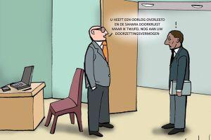 Vluchtelingenwerk cartoon